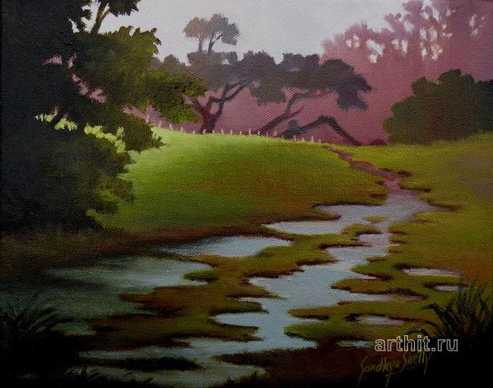 ''Ручей''.  Шетти Сандхья. Продажа картин, предметов декоративно-прикладного искусства