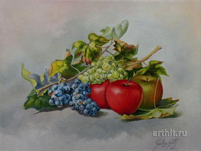 ''Натюрморт с виноградом''.  Шетти Сандхья. Продажа картин, предметов декоративно-прикладного искусства