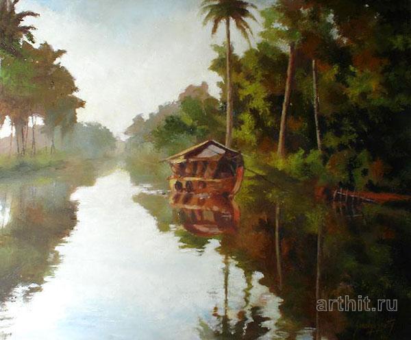 ''Дом Кораблик''.  Шетти Сандхья. Продажа картин, предметов декоративно-прикладного искусства