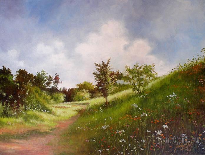 ''Весна''.  Шетти Сандхья. Продажа картин, предметов декоративно-прикладного искусства