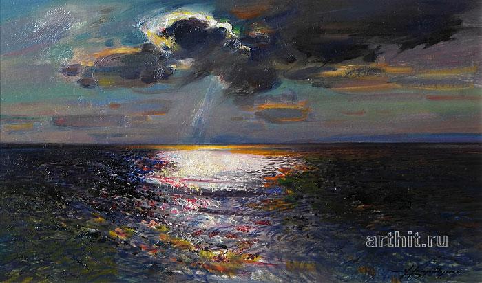 'Sea landscape at night'  by Horenyan Vagan