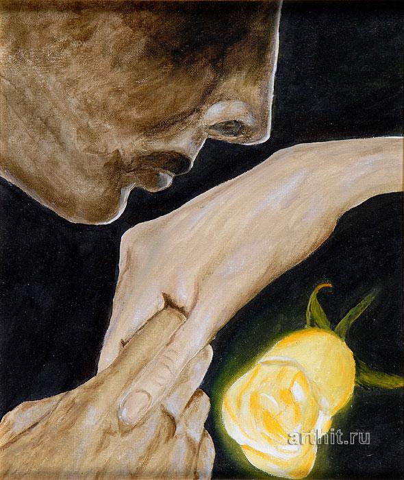 ''Поцелуй''.  Болохова Вера. Продажа картин, предметов декоративно-прикладного искусства