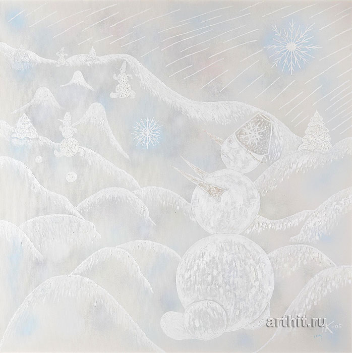 ''Зимушка-зима''.  Кульчицкая Надежда. Продажа картин, предметов декоративно-прикладного искусства