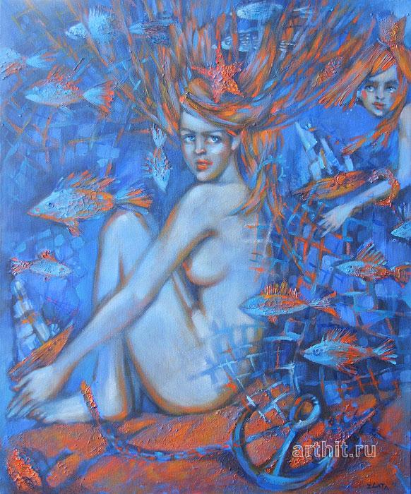 ''Принцессы моря''.  Приведенцева Злата. Продажа картин, предметов декоративно-прикладного искусства