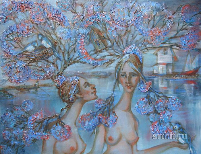 ''Деревья и вода''.  Приведенцева Злата. Продажа картин, предметов декоративно-прикладного искусства