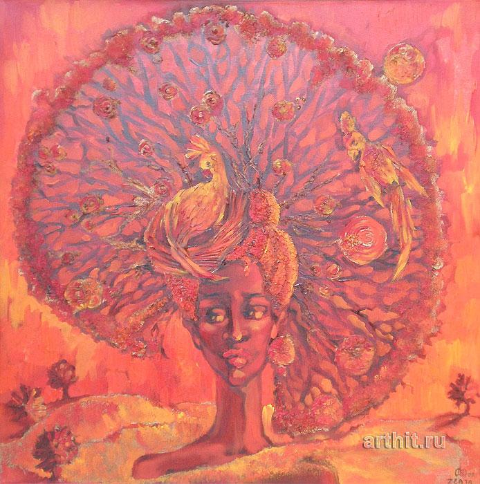 ''Пустынное дерево''.  Приведенцева Злата. Продажа картин, предметов декоративно-прикладного искусства