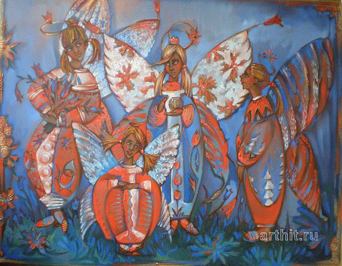 ''В ангельском саду''.  Приведенцева Злата. Продажа картин, предметов декоративно-прикладного искусства