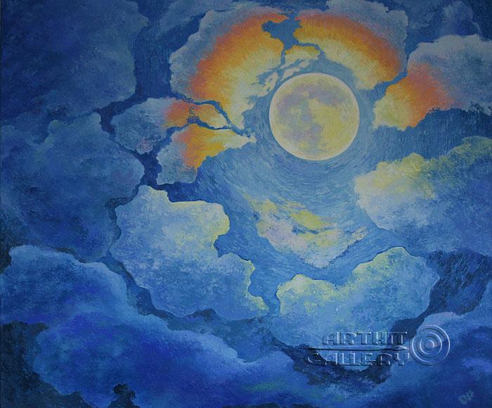 ''Ночь полной луны''.  Терновская Ирина. Продажа картин, предметов декоративно-прикладного искусства