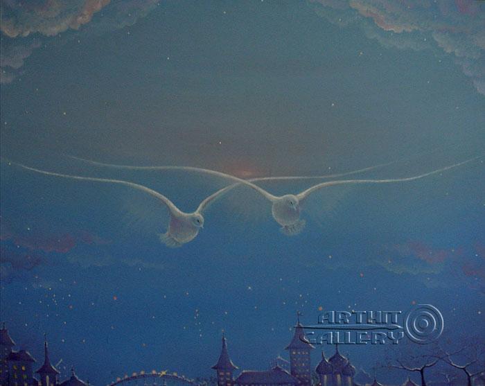 ''Птицы''.  Хисямова Марина. Продажа картин, предметов декоративно-прикладного искусства