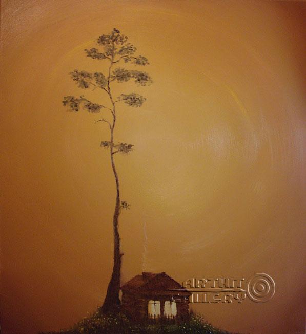 ''Тишина''.  Хисямова Марина. Продажа картин, предметов декоративно-прикладного искусства