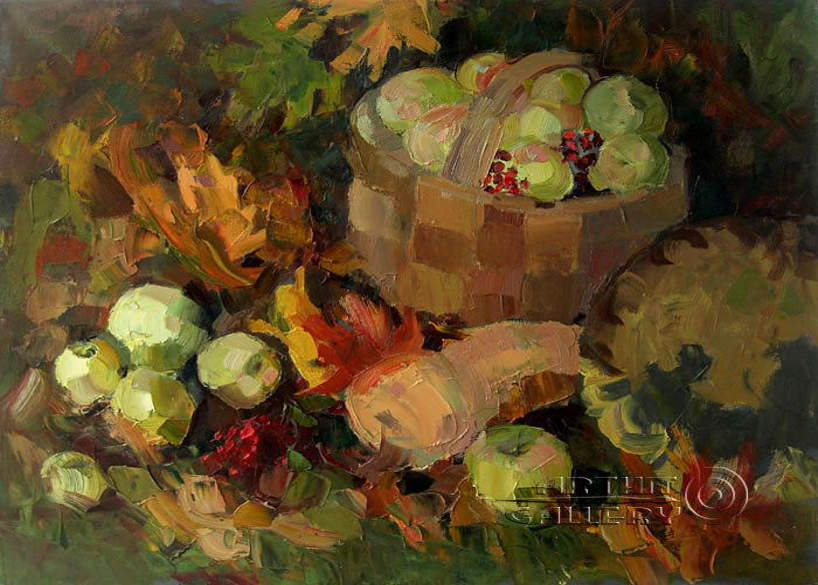 ''Осенний урожай''.  Дружинина Маргарита. Продажа картин, предметов декоративно-прикладного искусства