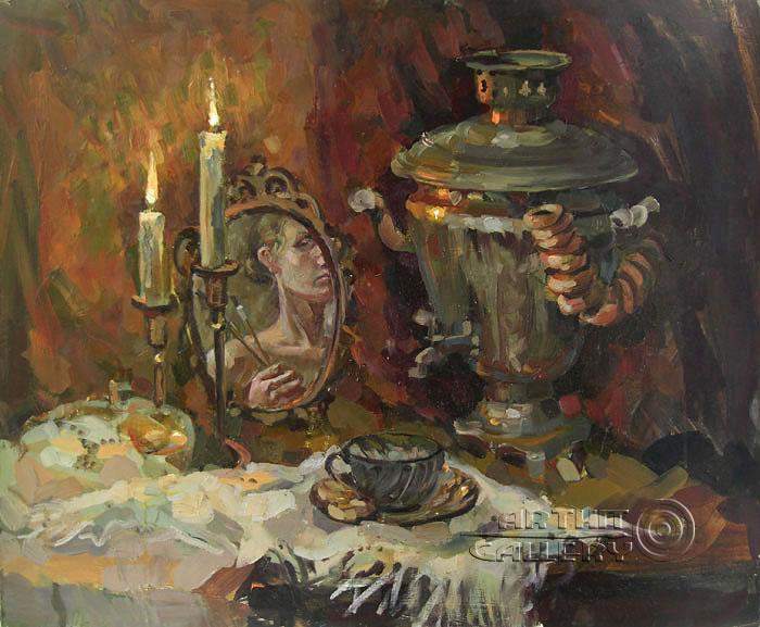 ''Зимние сумерки''.  Дружинина Маргарита. Продажа картин, предметов декоративно-прикладного искусства