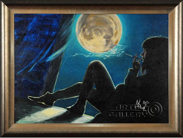 ''Сидя у раскрытого окна, этой ночью...''.  Кирдянов Денис. Продажа картин, предметов декоративно-прикладного искусства