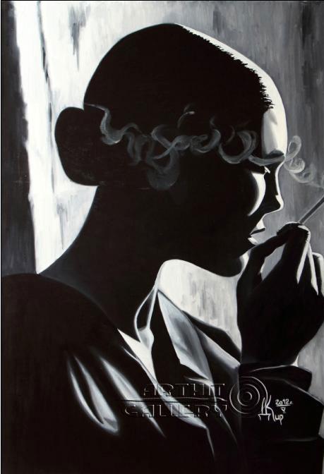 ''Раздумья цикл `Свет и Тьма`''.  Кирдянов Денис. Продажа картин, предметов декоративно-прикладного искусства