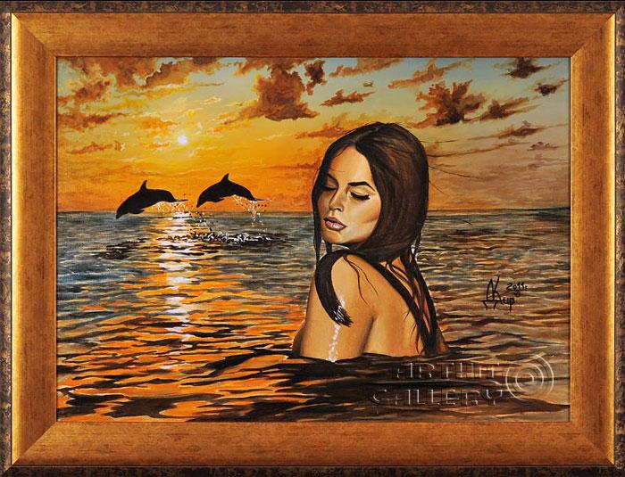 ''Я видел вдалеке дельфинов, помнишь...''.  Кирдянов Денис. Продажа картин, предметов декоративно-прикладного искусства