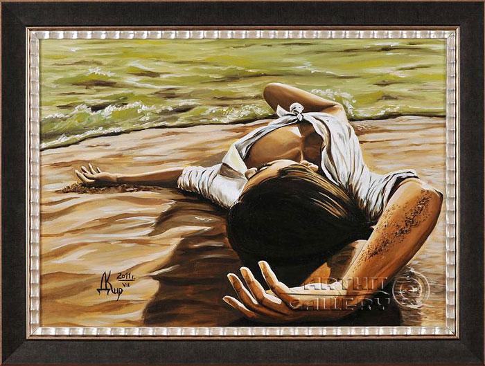''Пускай там будет белый, белый песок...''.  Кирдянов Денис. Продажа картин, предметов декоративно-прикладного искусства