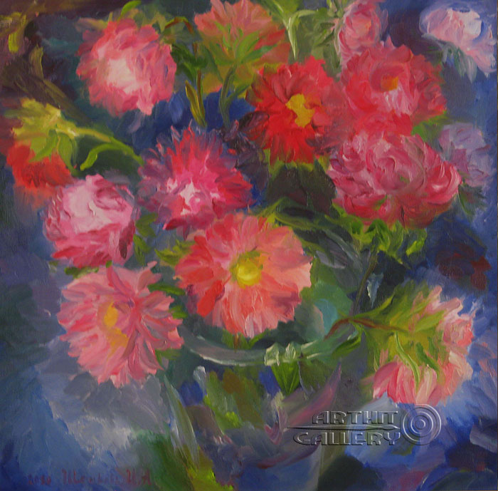 'Asters'  by Shtykova Irina