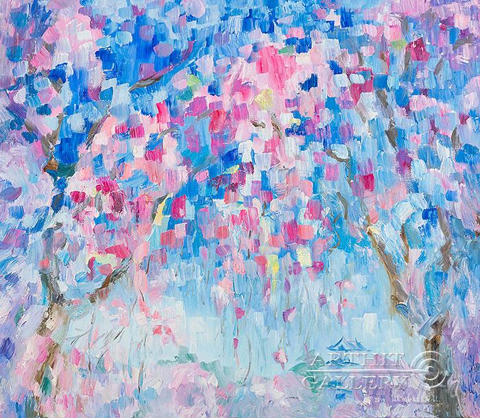 ''Туман над Янцзы''.  Штыкова Ирина. Продажа картин, предметов декоративно-прикладного искусства