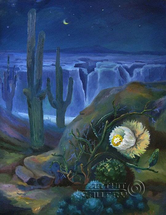 ''Таинственность ночи''.  Штыкова Ирина. Продажа картин, предметов декоративно-прикладного искусства