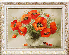 Oil paintings for sale. Contemporary art. Poppies
