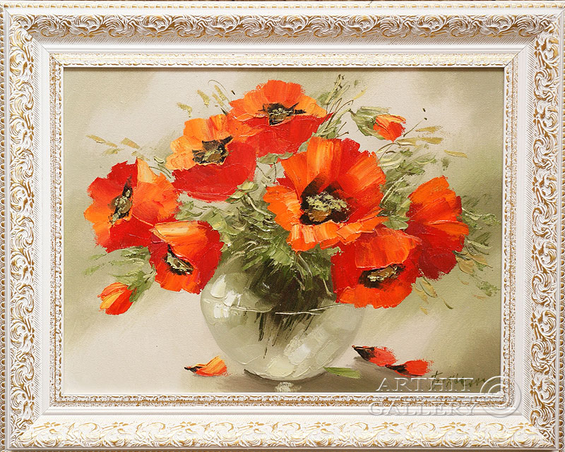 'Poppies'. Contemporary artists