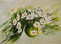 Oil paintings for sale. Contemporary art. `Daisies`