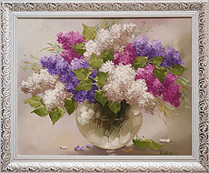 Oil paintings for sale. Contemporary art. Lilac bouquet