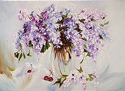 Oil paintings for sale. Contemporary art. `Spring tenderness`