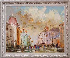 Oil paintings for sale. Contemporary art. `Arbat`