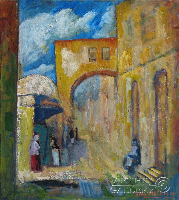 ''Старый Иерусалим''.  Усманов Аваз. Продажа картин, предметов декоративно-прикладного искусства