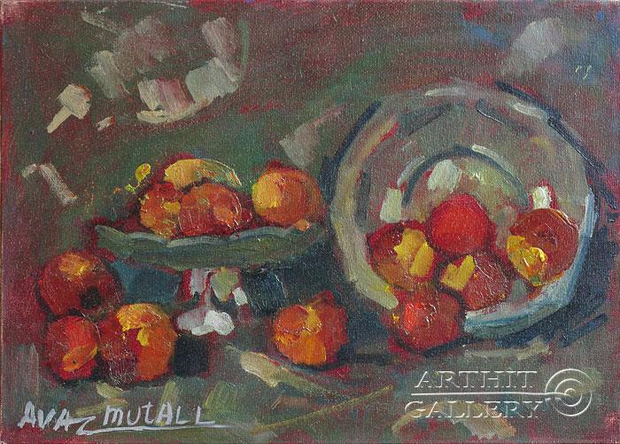 ''Натюрморт с яблоками''.  Усманов Аваз. Продажа картин, предметов декоративно-прикладного искусства