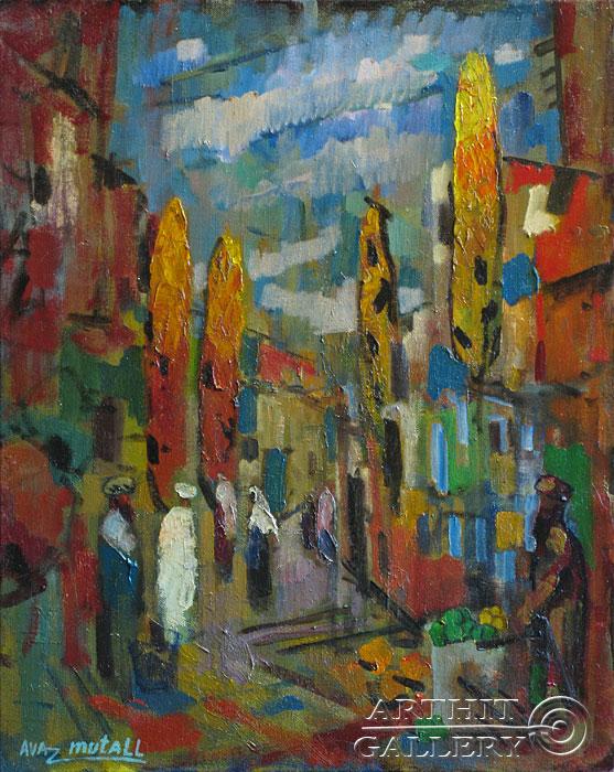 ''Осень в старом городе''.  Усманов Аваз. Продажа картин, предметов декоративно-прикладного искусства