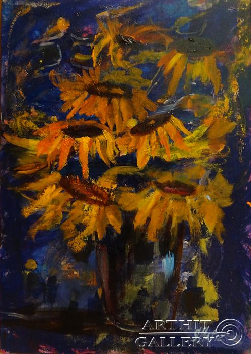 ''Оранжевое на фиолетовом''.  Малахова Светлана. Продажа картин, предметов декоративно-прикладного искусства
