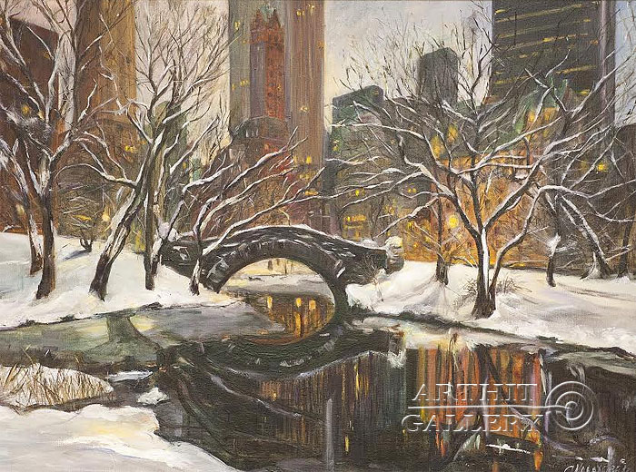 'New York. Snow'. Malakhova Svetlana