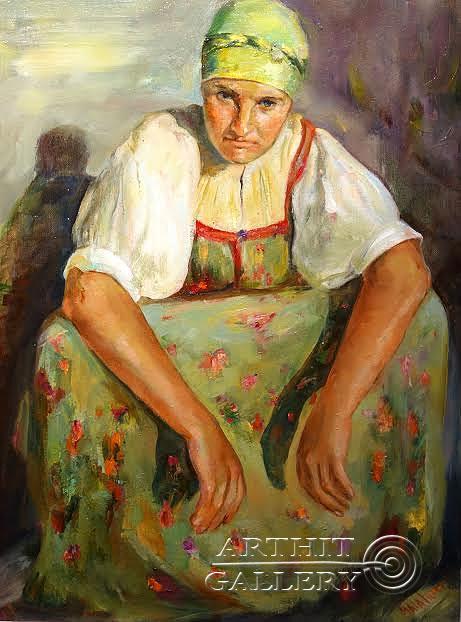 ''Баба''.  Малахова Светлана. Продажа картин, предметов декоративно-прикладного искусства