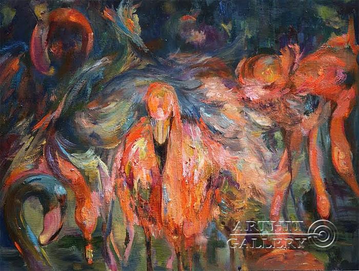 ''Ночные птицы''.  Малахова Светлана. Продажа картин, предметов декоративно-прикладного искусства