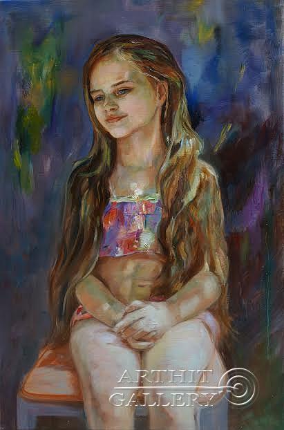 ''Русалка''.  Малахова Светлана. Продажа картин, предметов декоративно-прикладного искусства