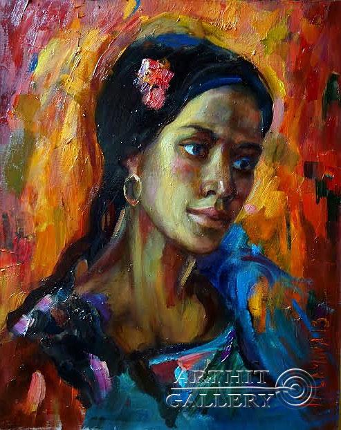 ''Огонь''.  Малахова Светлана. Продажа картин, предметов декоративно-прикладного искусства