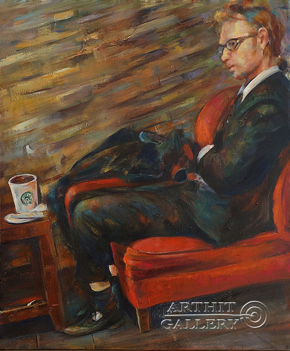 'Magic moments in coffee shops on   Fridays'. Malakhova Svetlana