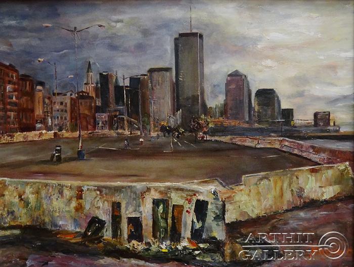 ''...город контрастов''.  Малахова Светлана. Продажа картин, предметов декоративно-прикладного искусства