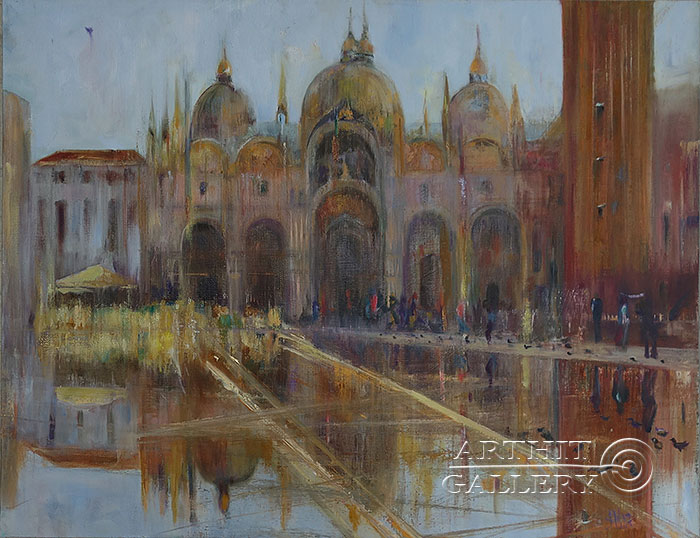 'Venice. Rain. Pigeons'. Malakhova Svetlana
