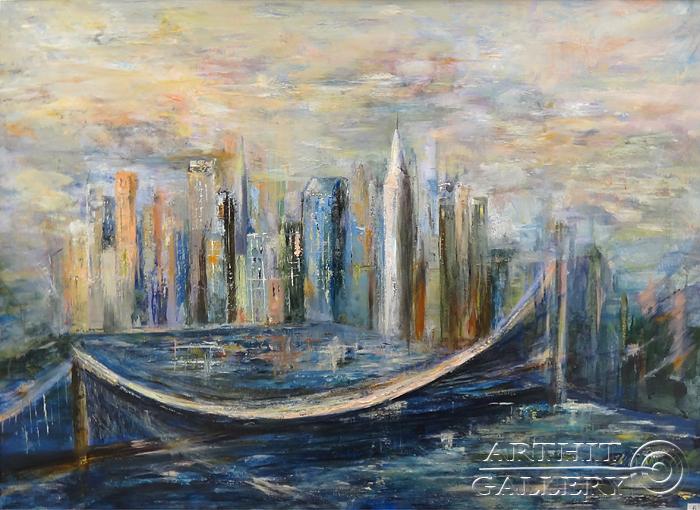 ''`NY` Диптих''.  Малахова Светлана. Продажа картин, предметов декоративно-прикладного искусства