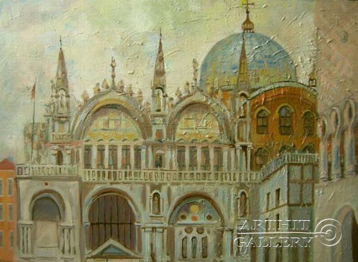 ''Венеция. Базилика Сан-Марко''.  Силаева Нина. Продажа картин, предметов декоративно-прикладного искусства