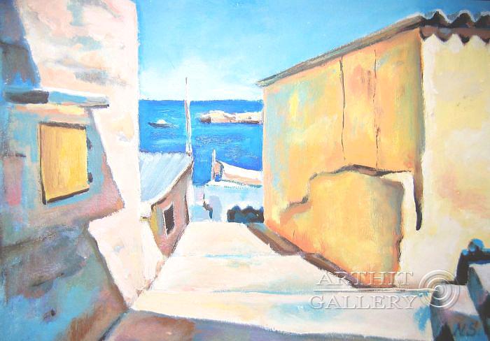 ''Мальта. Валлетта''.  Силаева Нина. Продажа картин, предметов декоративно-прикладного искусства