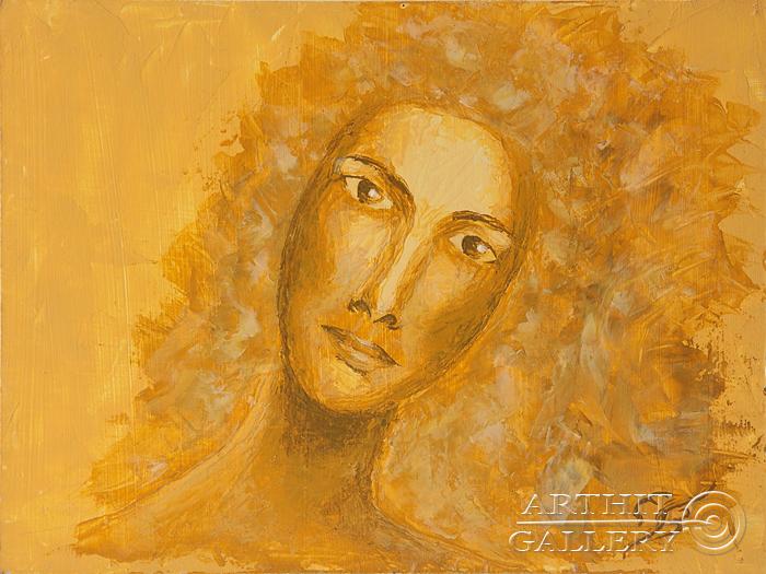 ''Солнечная женщина''.  Пригарина Евгения. Продажа картин, предметов декоративно-прикладного искусства