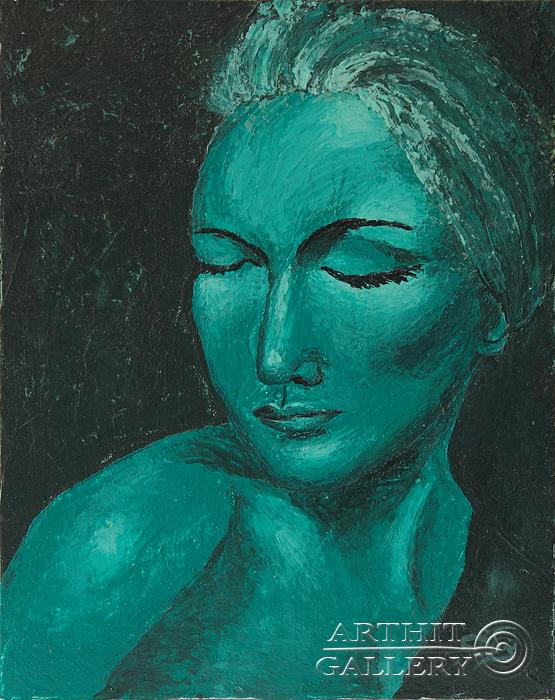 ''Лунная женщина''.  Пригарина Евгения. Продажа картин, предметов декоративно-прикладного искусства