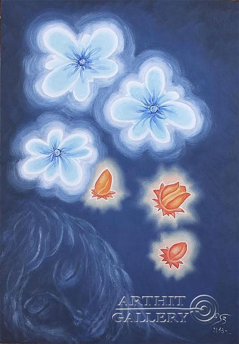''Сон в летнюю ночь''.  Пригарина Евгения. Продажа картин, предметов декоративно-прикладного искусства