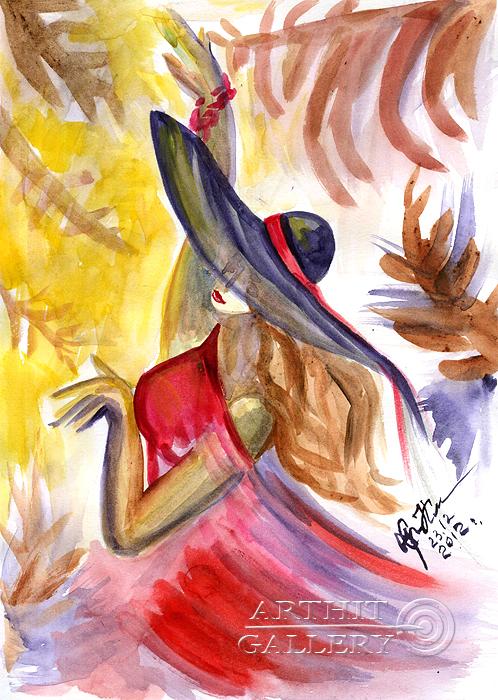''Мое сердце танцует...''.  Сыроватская Наталья. Продажа картин, предметов декоративно-прикладного искусства