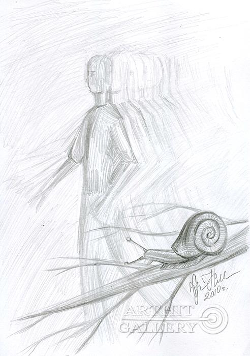 ''Другая жизнь''.  Сыроватская Наталья. Продажа картин, предметов декоративно-прикладного искусства
