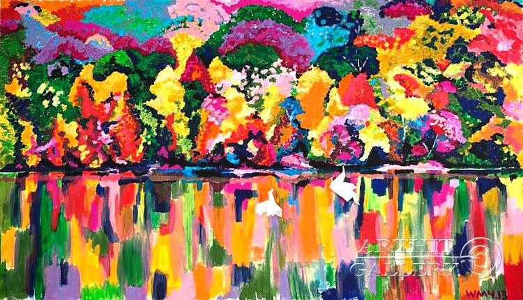 ''Отражение''.  Машурова Вера. Продажа картин, предметов декоративно-прикладного искусства